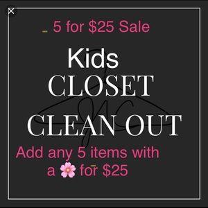 Kids closet sale! 🌸5/$25